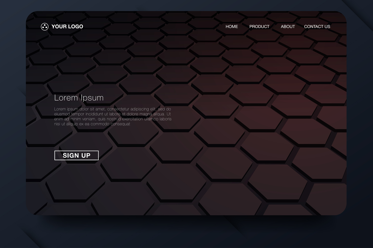 20 - Abstract background design. Landing page template example image 8