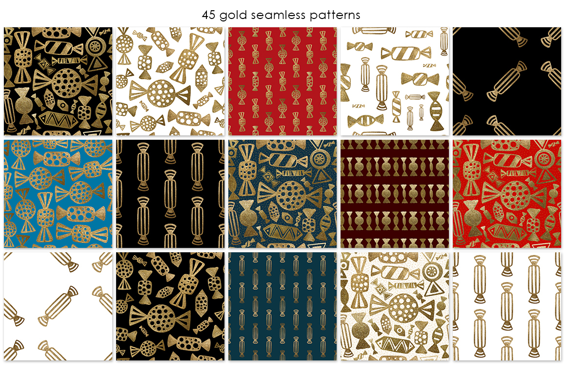 GOLD CANDY patterns set example image 2