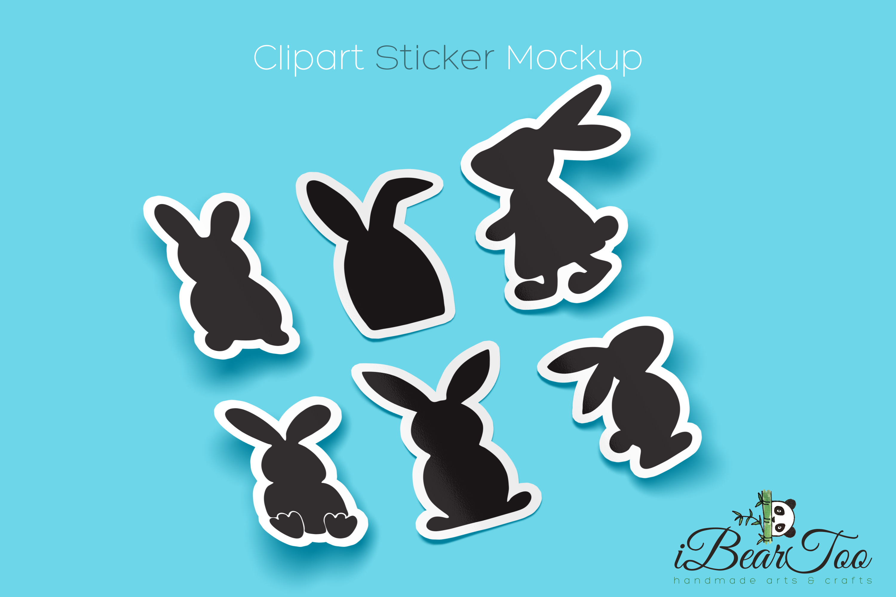 Easter Bunnies SVG Bundle Clipart Rabbits Vector Drawing example image 2