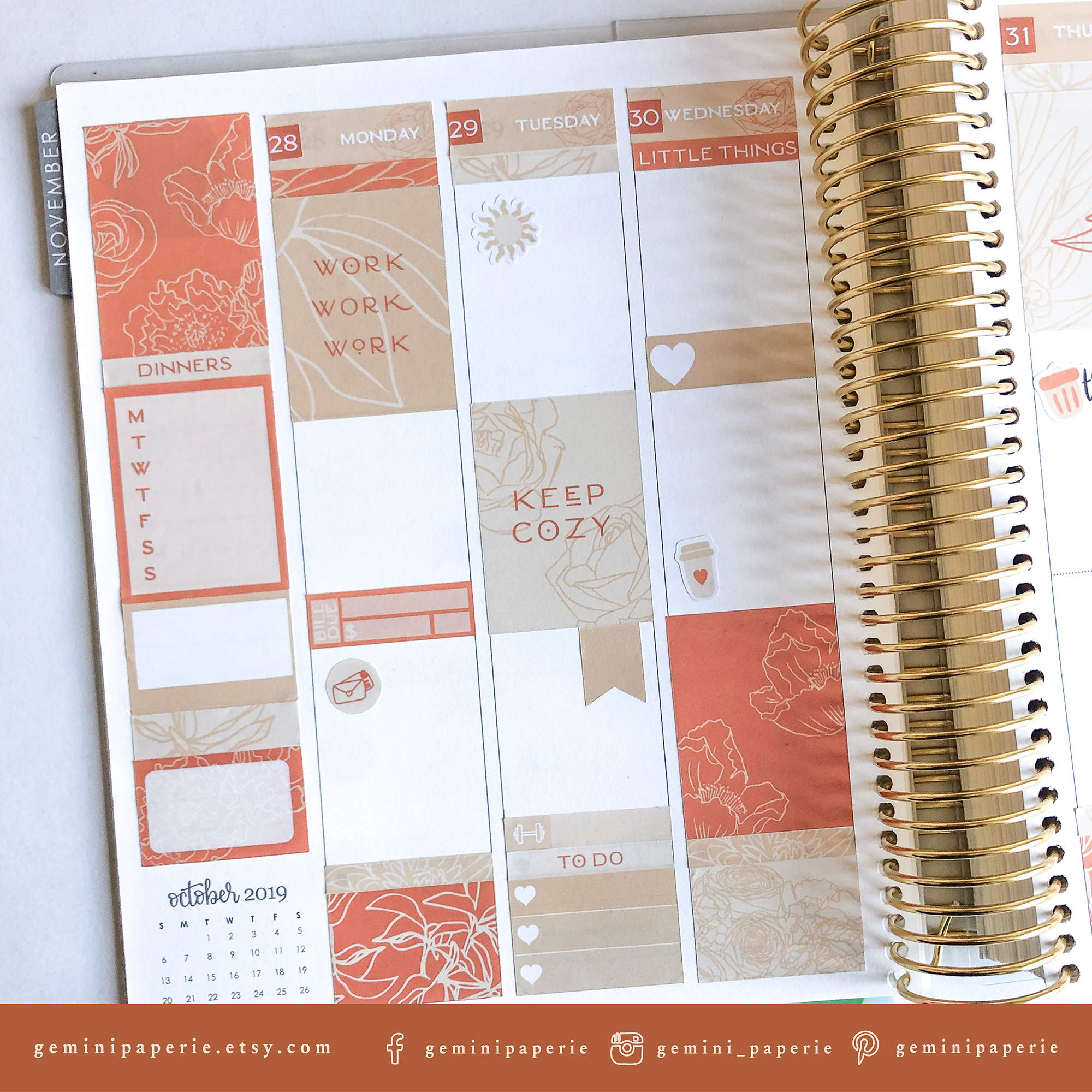Printable Planner Stickers Weekly Kit for Erin Condren 2020 example image 6
