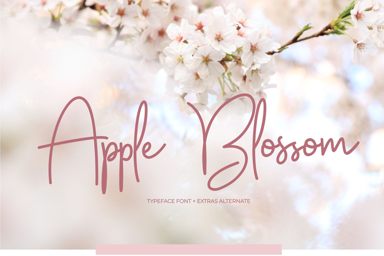 Apple Blossom Font example image 1