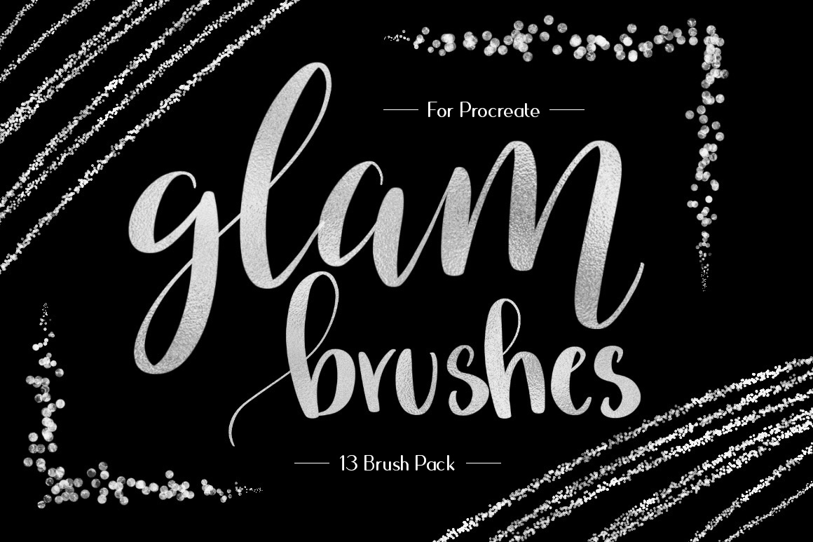 Foil & Glitter Procreate Brushes example image 1