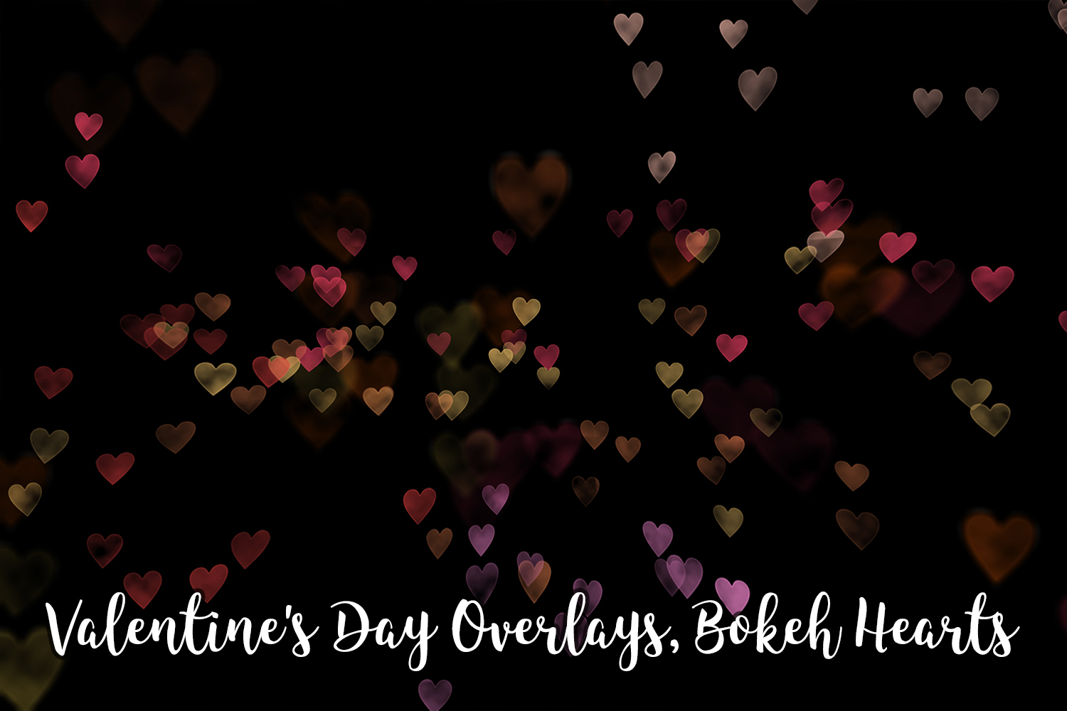 Valentine's Day Overlays, Bokeh Hearts Overlays example image 5