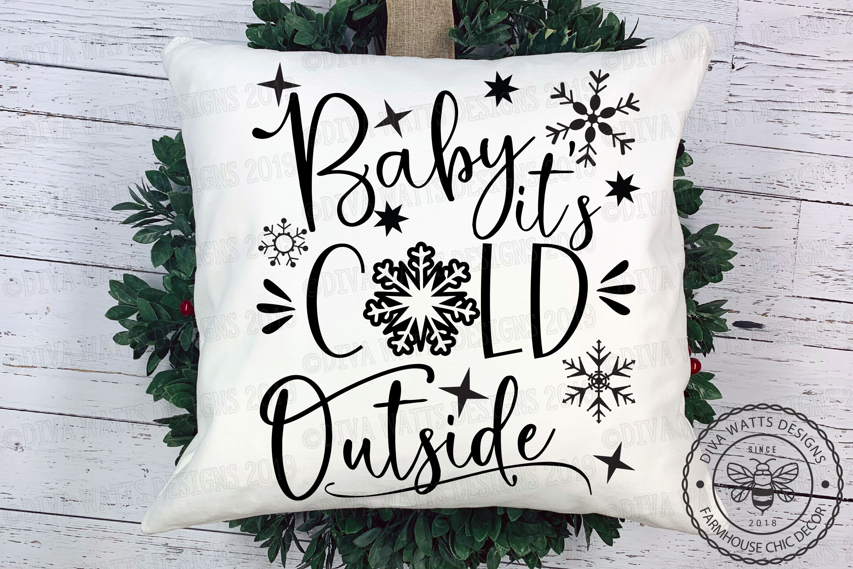 Baby It's Cold Outside Snowflakes Cutting File example image 1