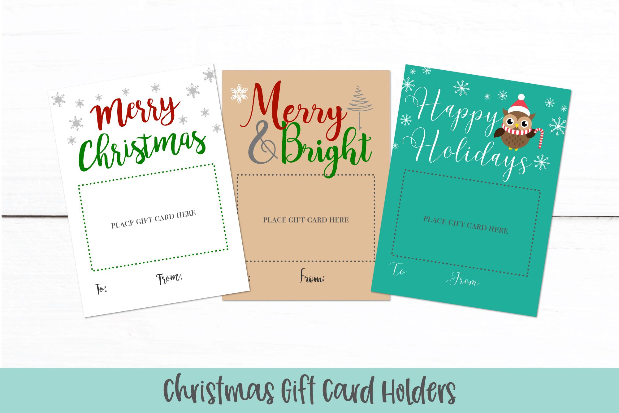 Printable Christmas Card.Christmas Gift Card Holders Printable Christmas Card Pdf