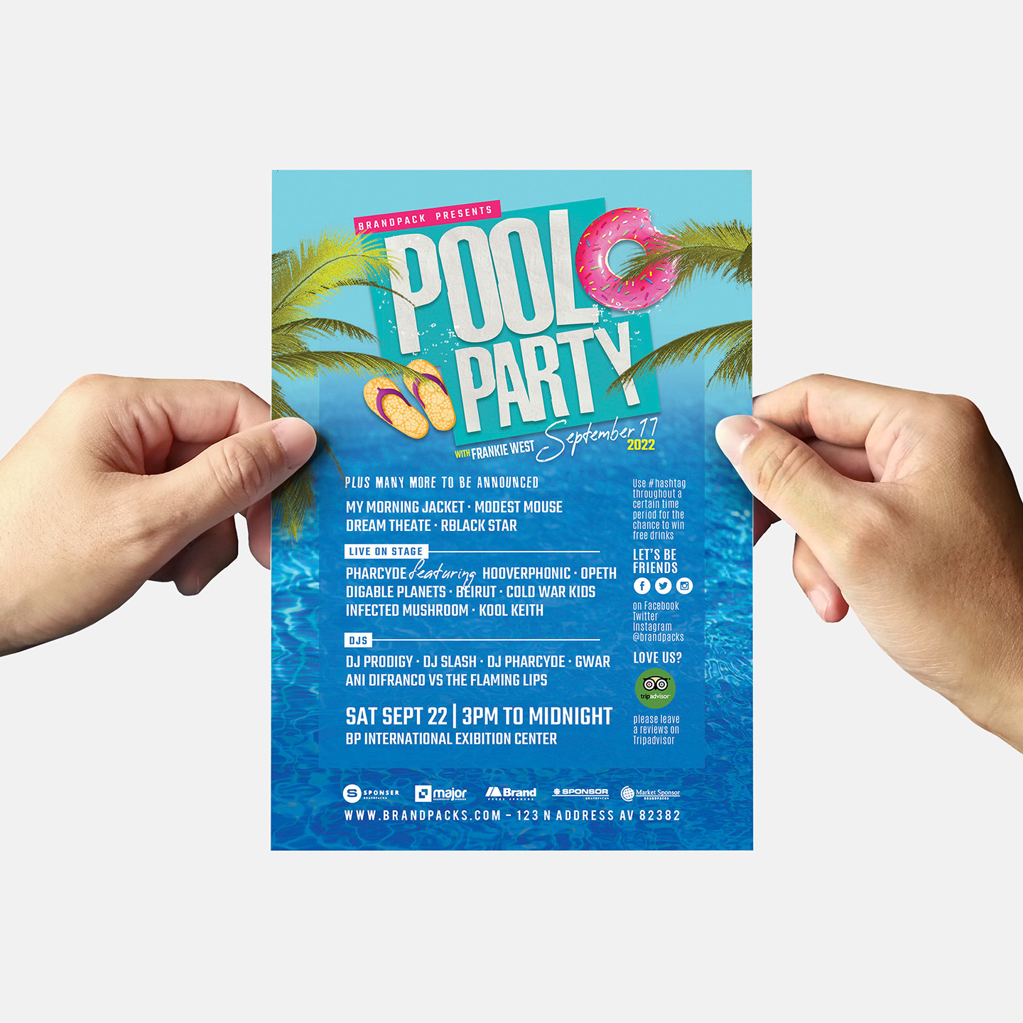 Pool Party Flyer Template example image 6