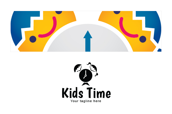 Kids Time - School Kids Stock Logo Template example image 3