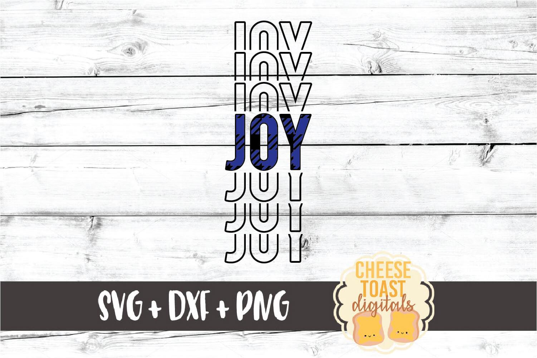 Joy - Buffalo Plaid Christmas Mirror Word SVG PNG DXF example image 2