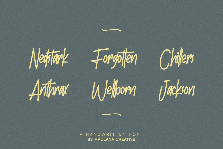 Batllers Handwritten Font example image 4