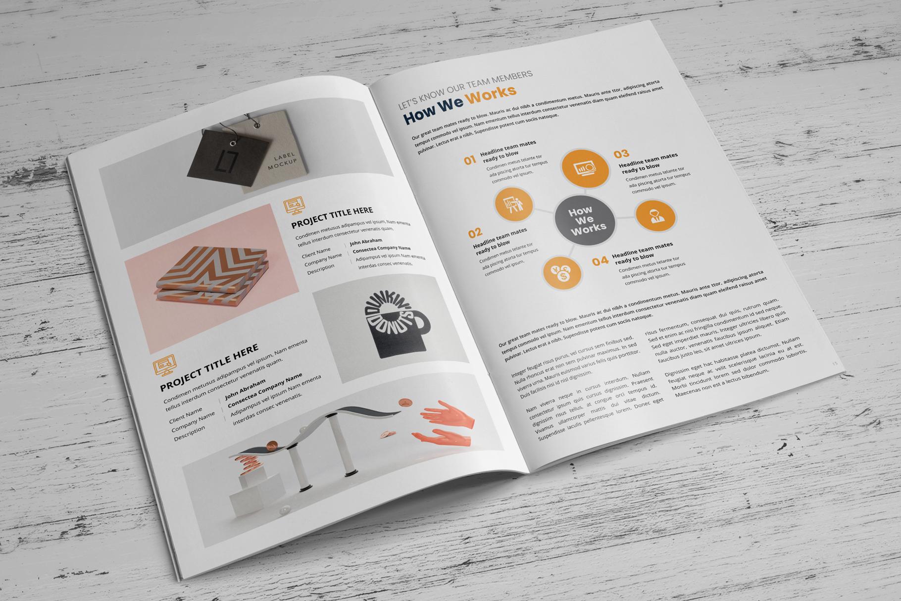 Portfolio Bifold Brochure Design v1 example image 6