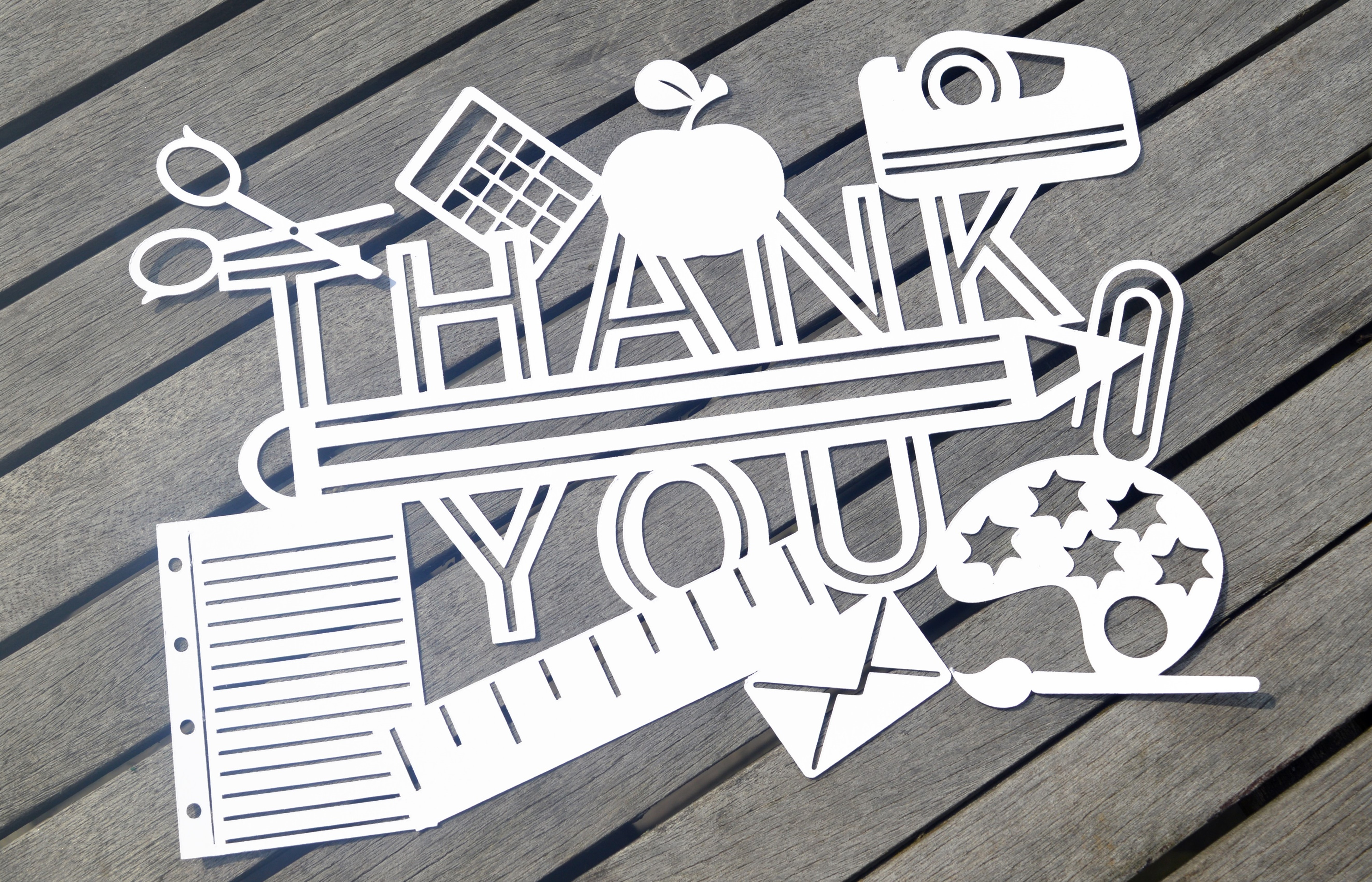 Teacher Thank you SVG / DXF / EPS Files example image 3