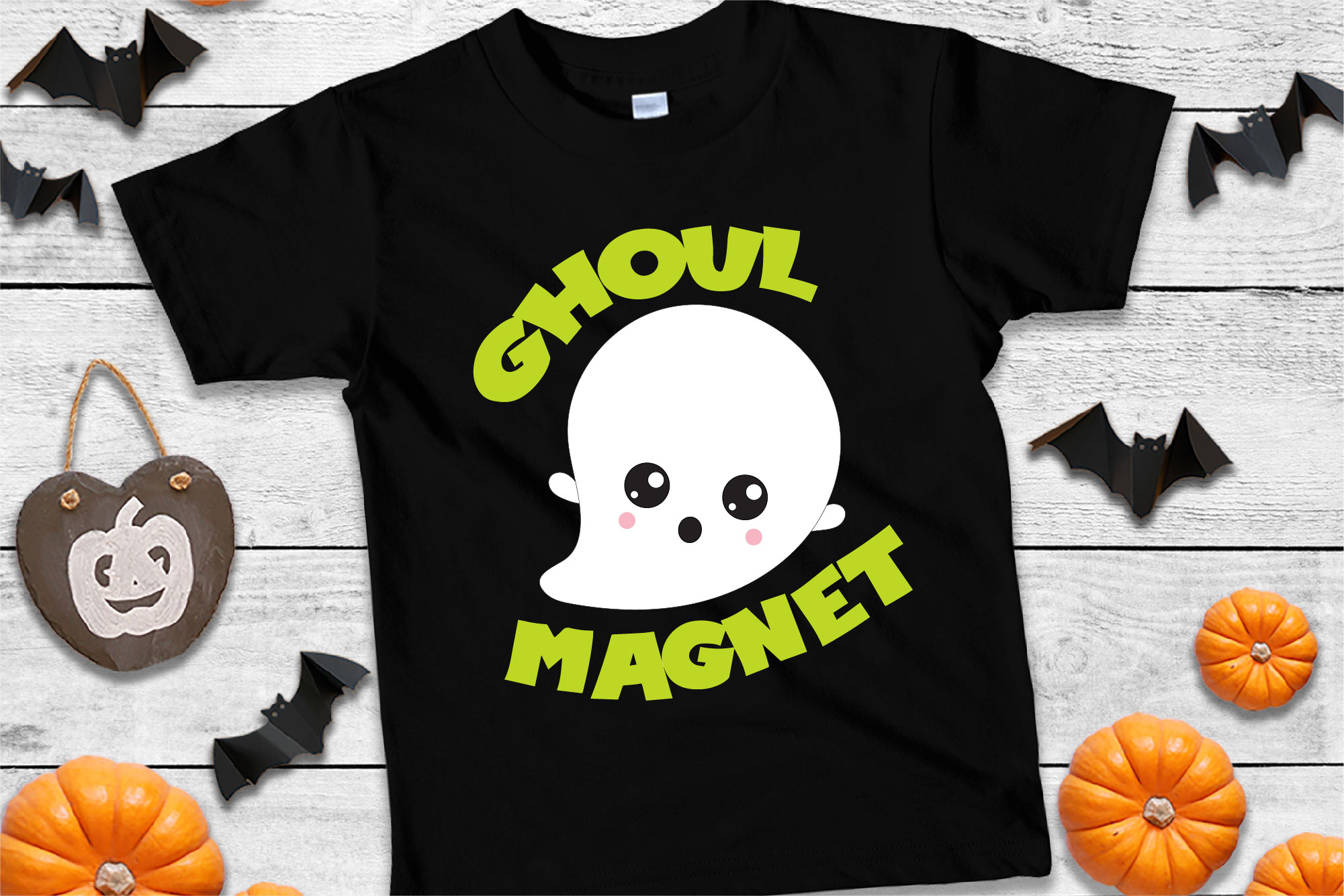Ghoul Magnet SVG Sublimation, Girl Magnet, Halloween Ghost example image 1