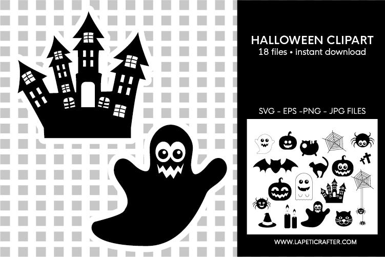 Halloween silhouette, halloween black clipart, digital stick example image 8