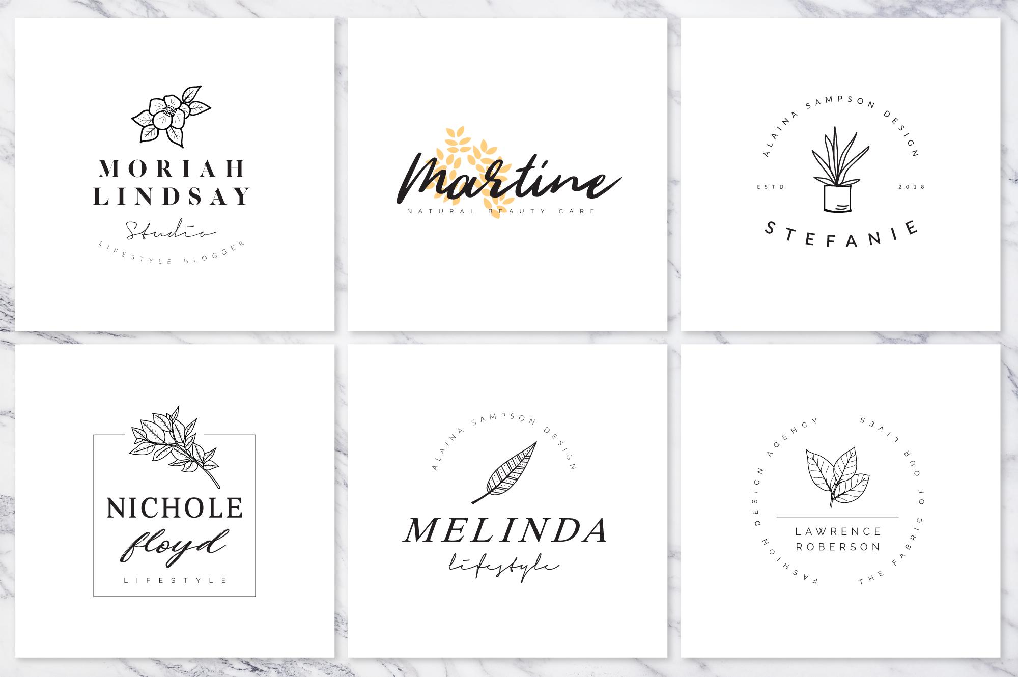 Feminine Branding Premade Logos V01 example image 7