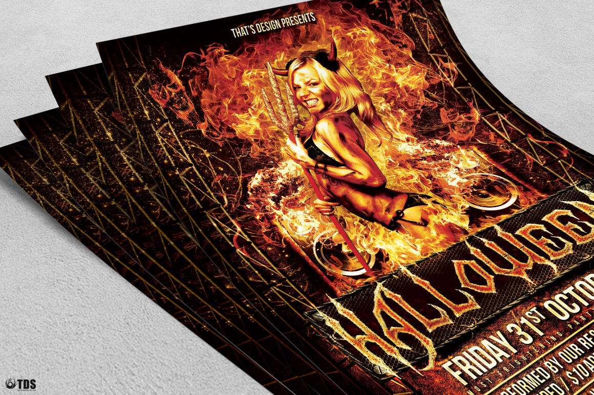 Halloween Flyer Template V3 example image 5
