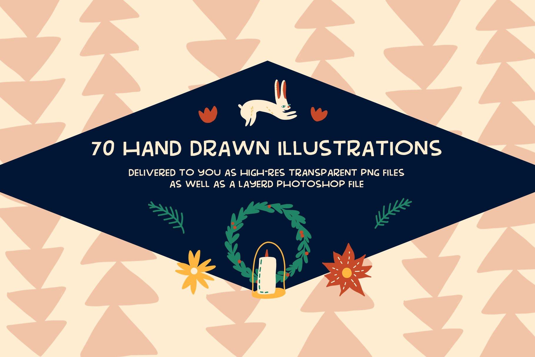 Handmade Holiday Illustrations example image 2