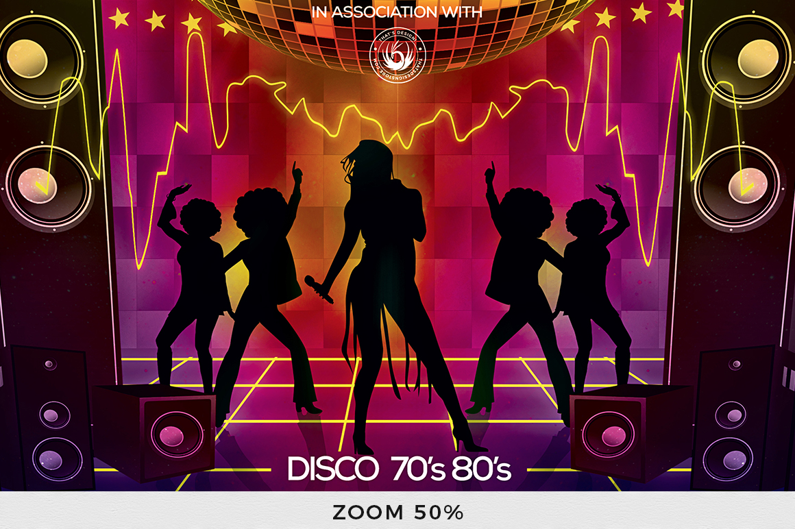 Disco Revival Flyer Template V1 example image 7
