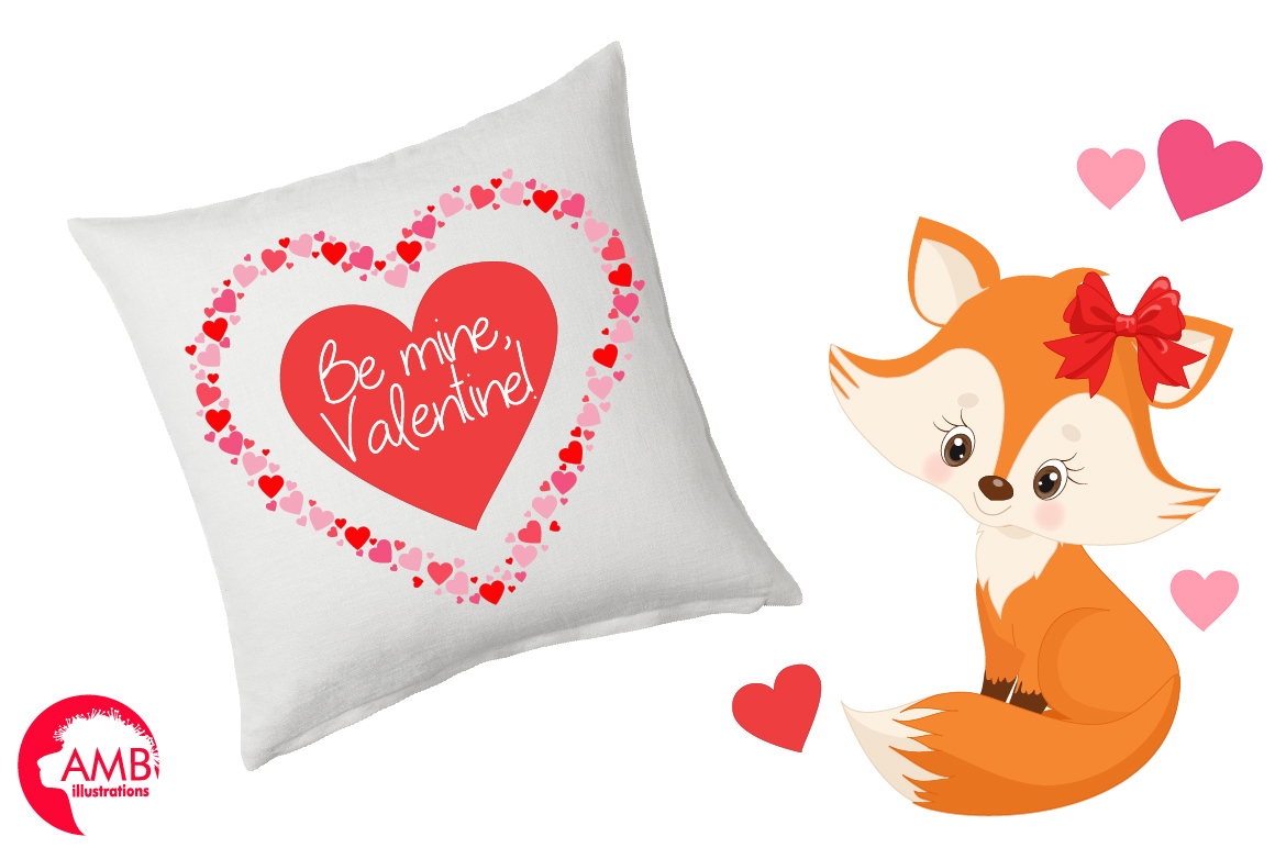 Valentine cliparts, graphics, illustrations AMB-1582 example image 3