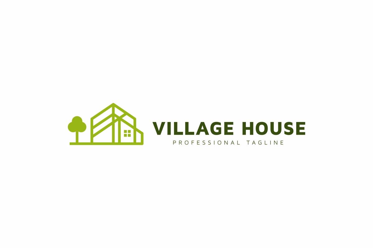 Village House Logo example image 3