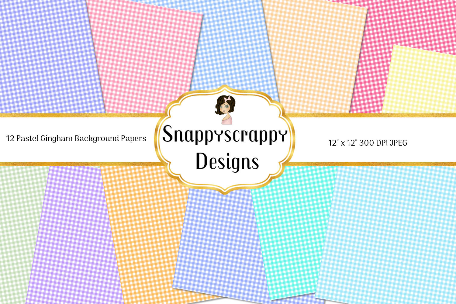 Gingham Background Papers example image 2