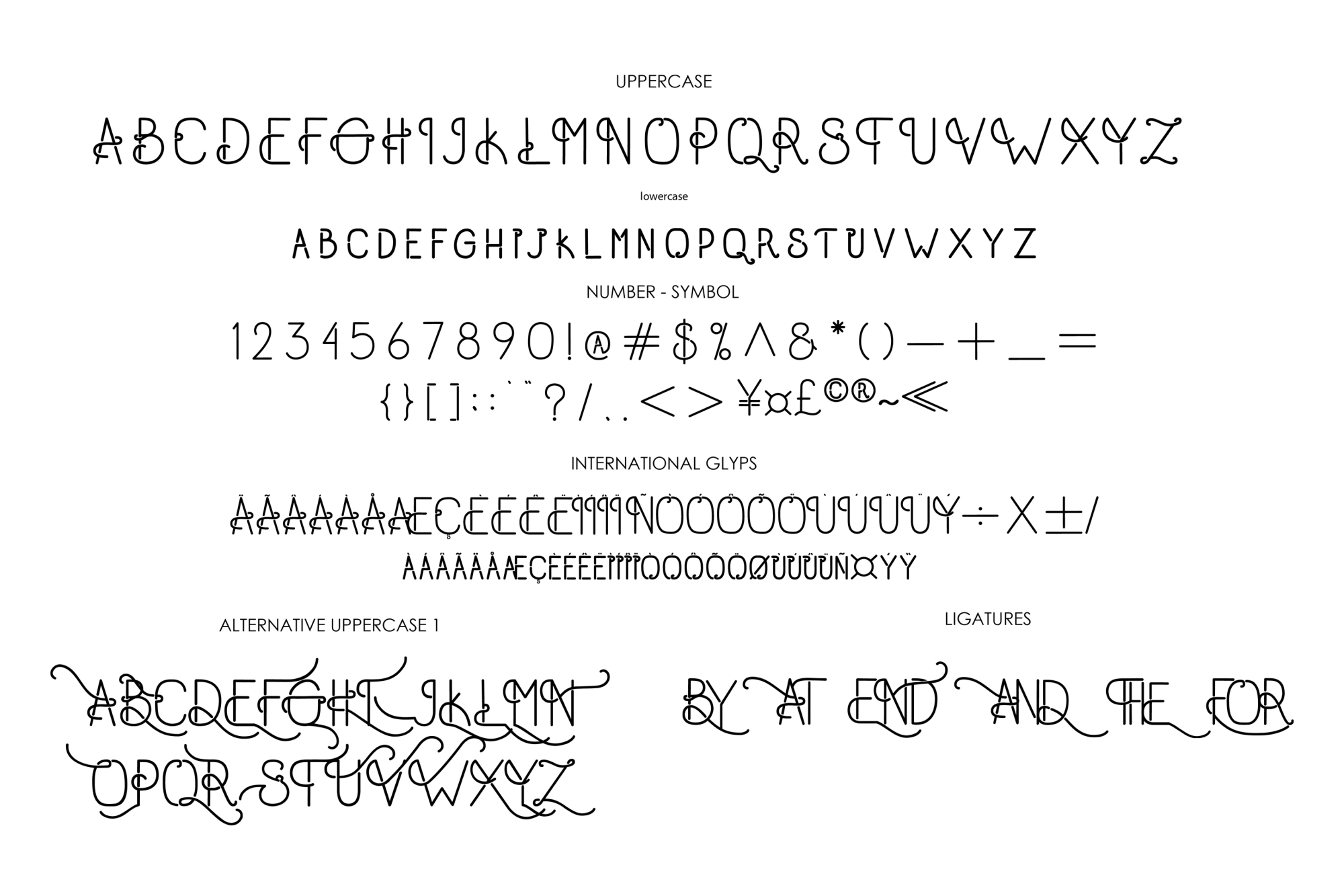 Old Alpha Typeface example image 5