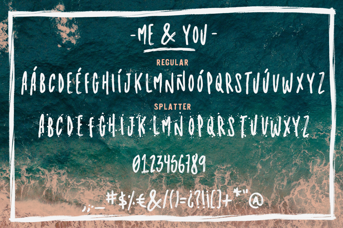 Me & you - dry marker font and extras! example image 2