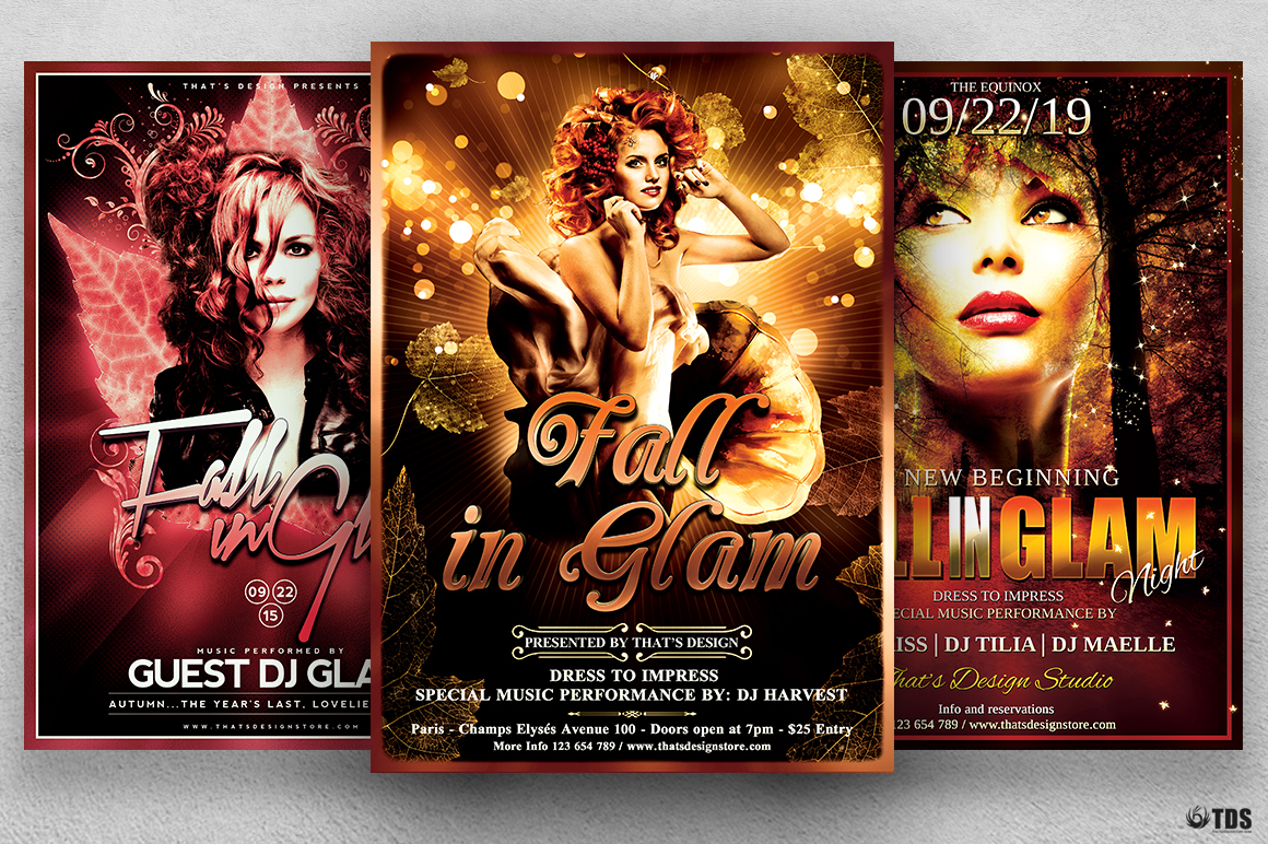 Fall in Glam Flyer Bundle V1 example image 1