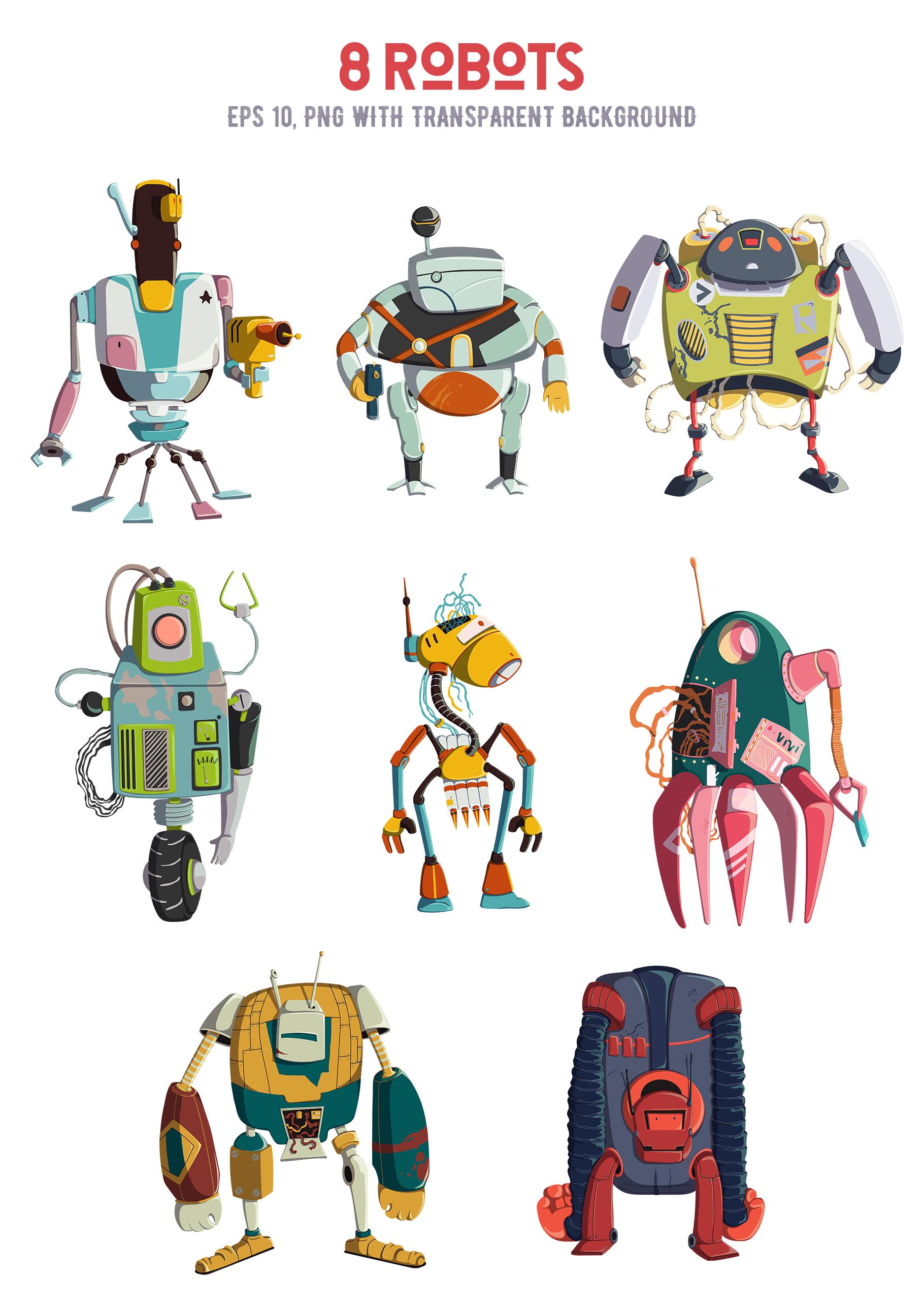 Retro robots example image 4