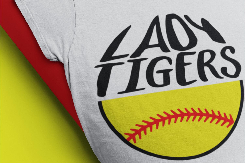 Tigers softball svg softball mom Lady Tigers T-shirt svg example image 1