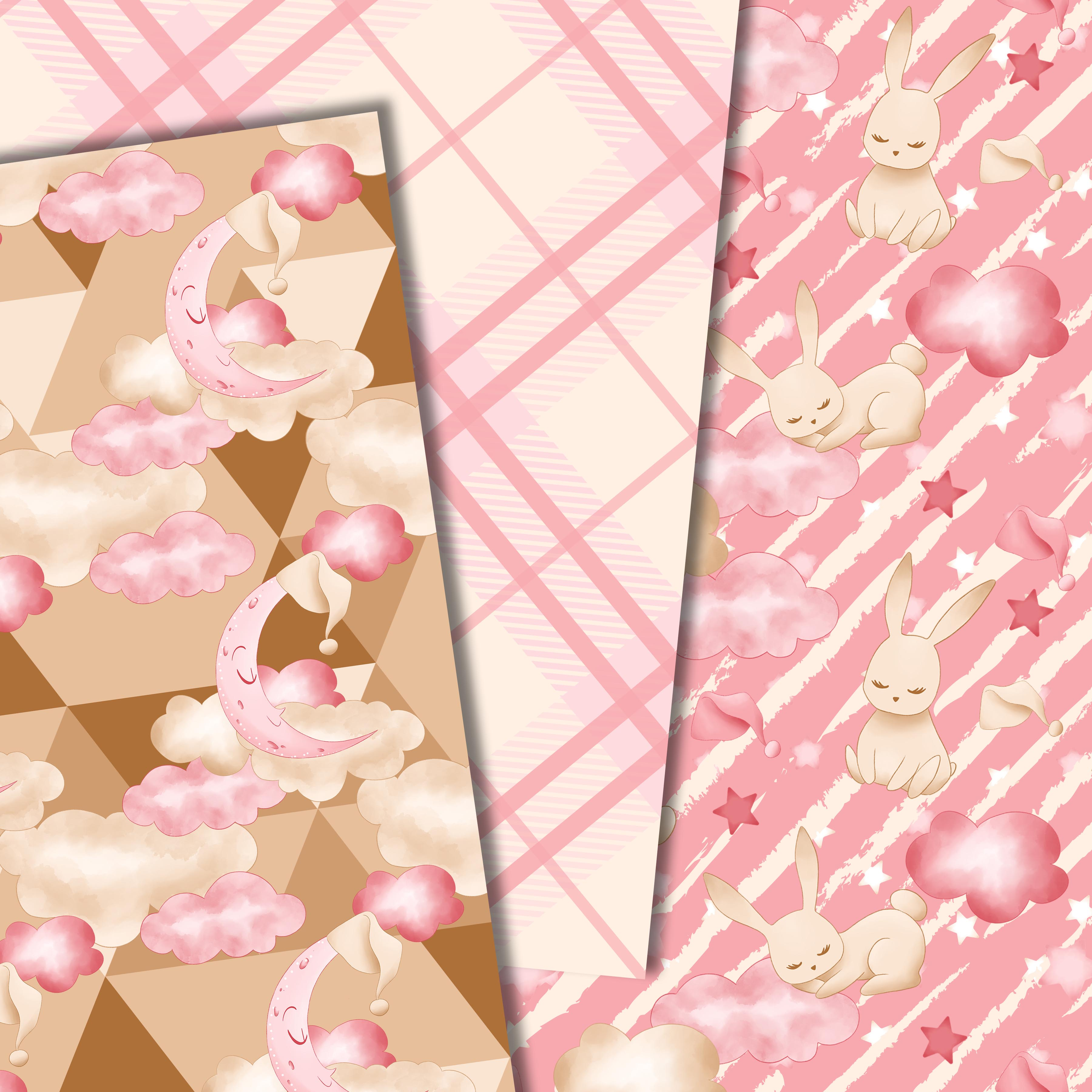 Good night bunny pattern in pink example image 4