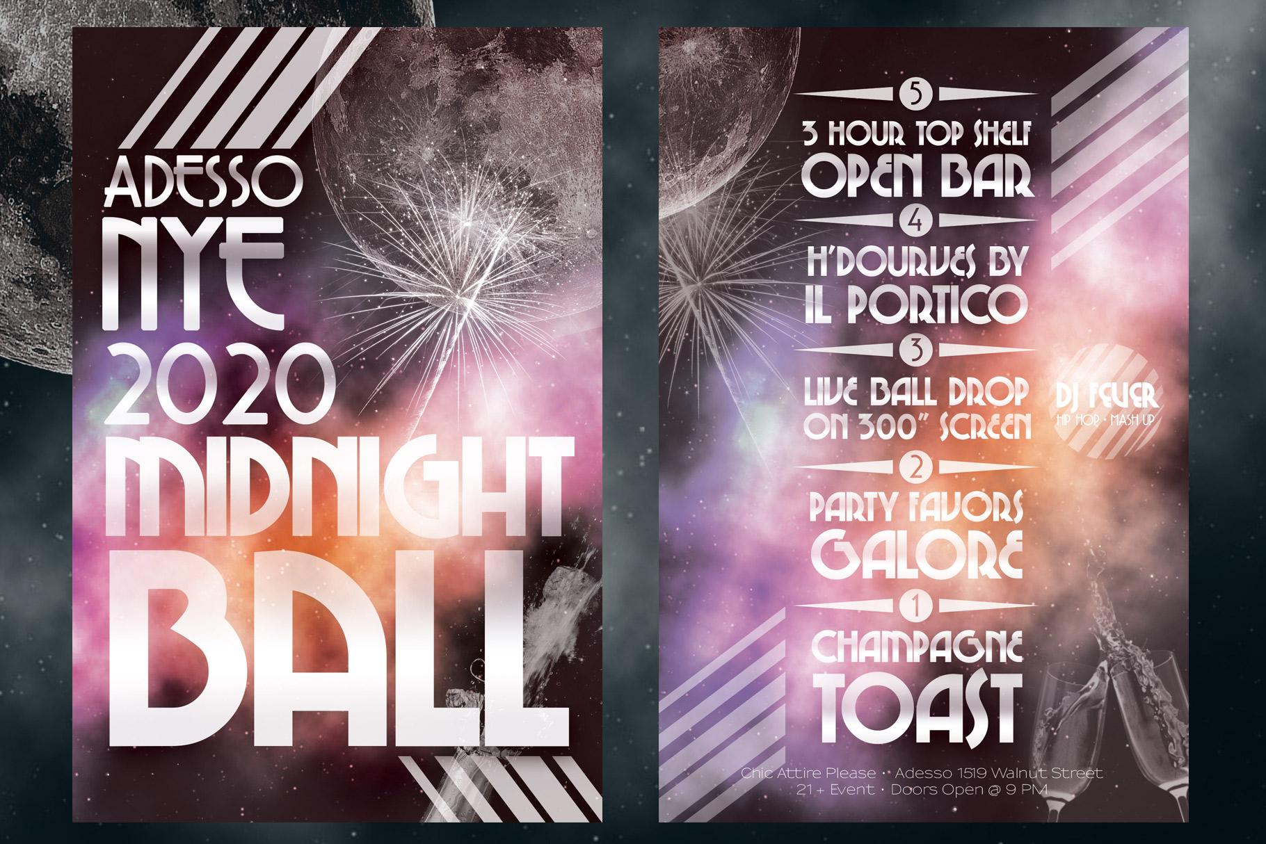 2020 NYE New Years Eve Flyer example image 3