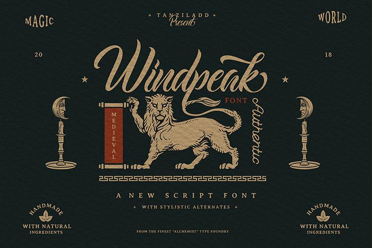 Windpeak Script Font example image 1