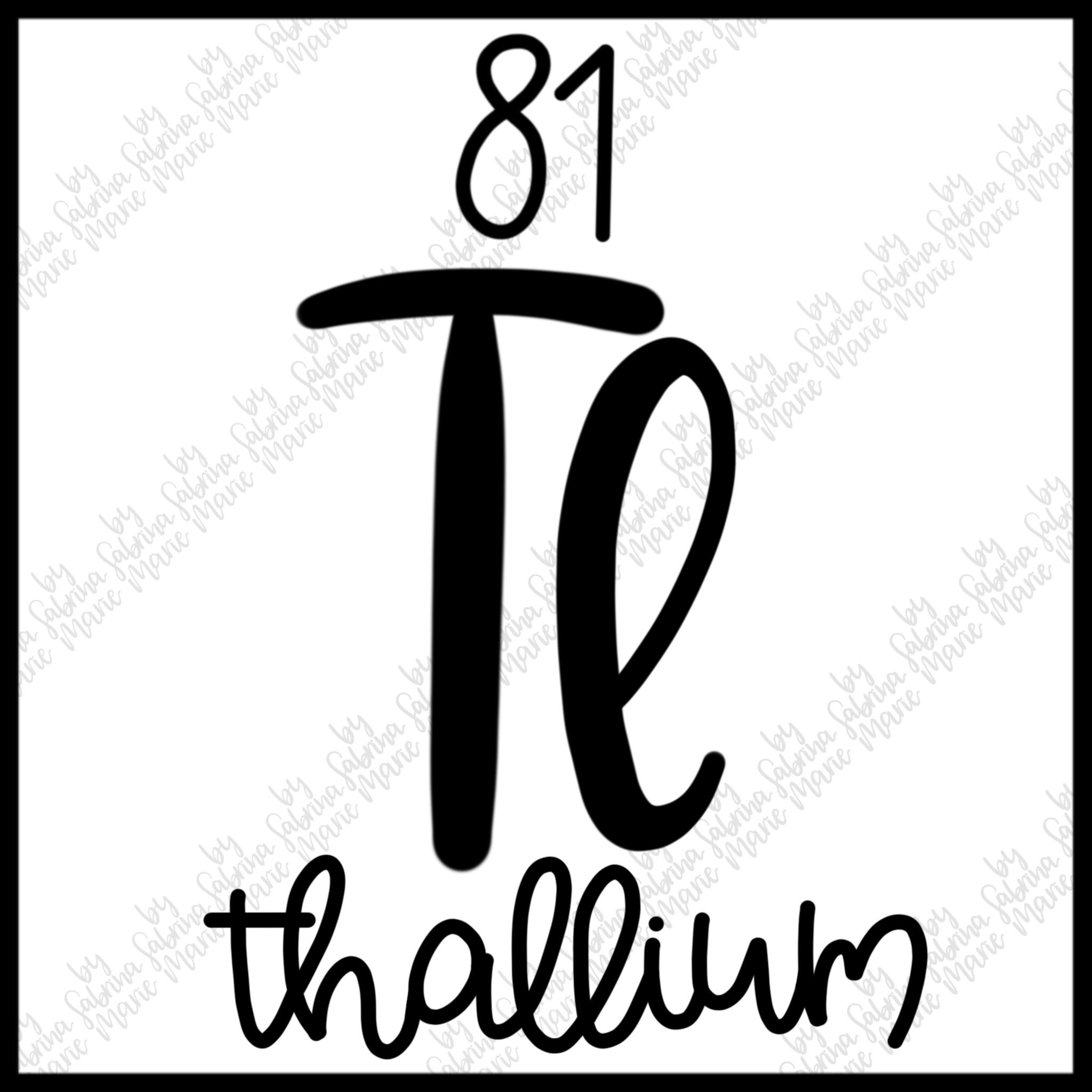 81 thallium handdrawn periodic table element svg Dy Symbol 81 thallium handdrawn periodic table element svg ex le image 2