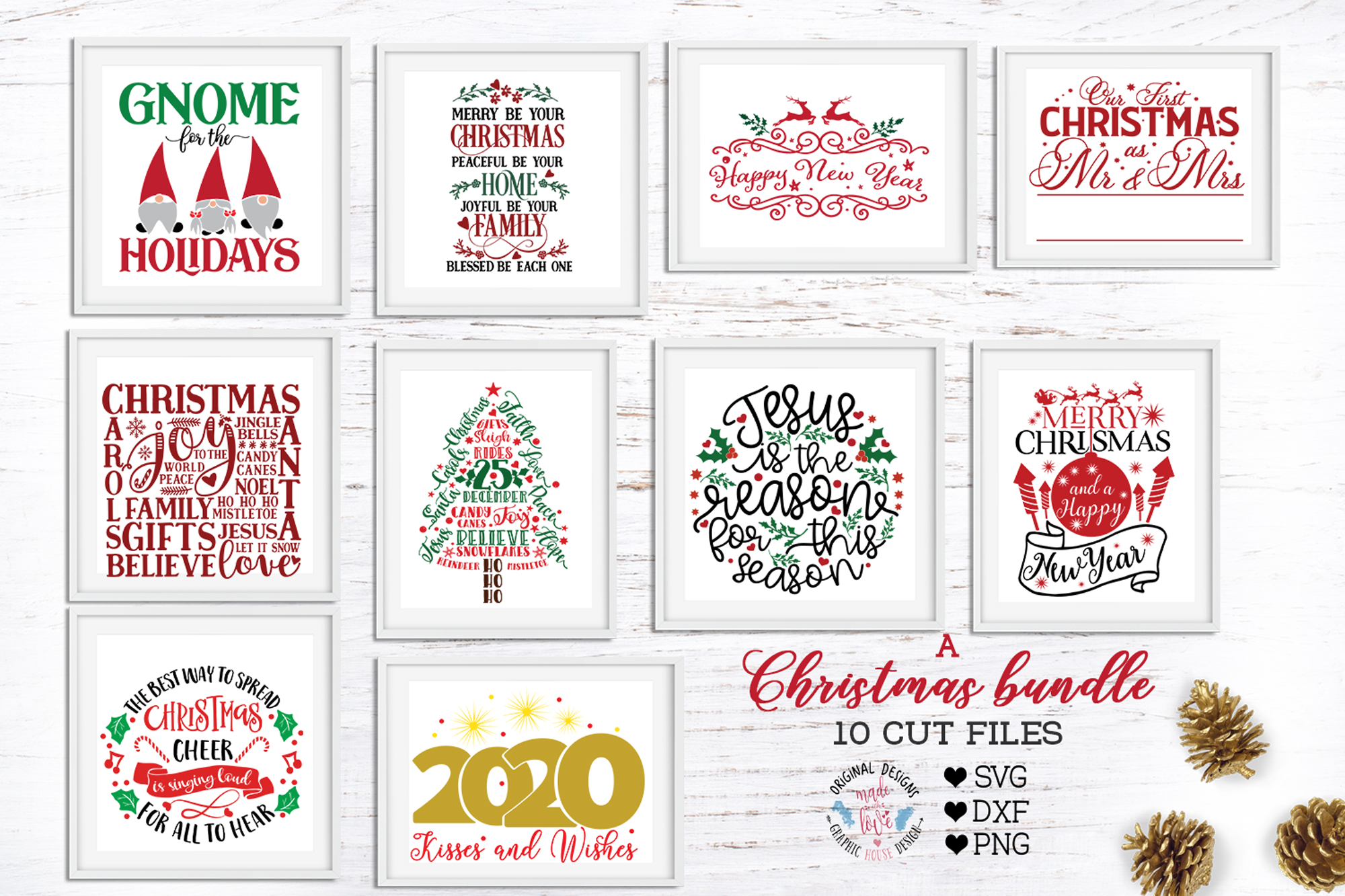 A Merry Christmas Cut Files Bundle example image 1