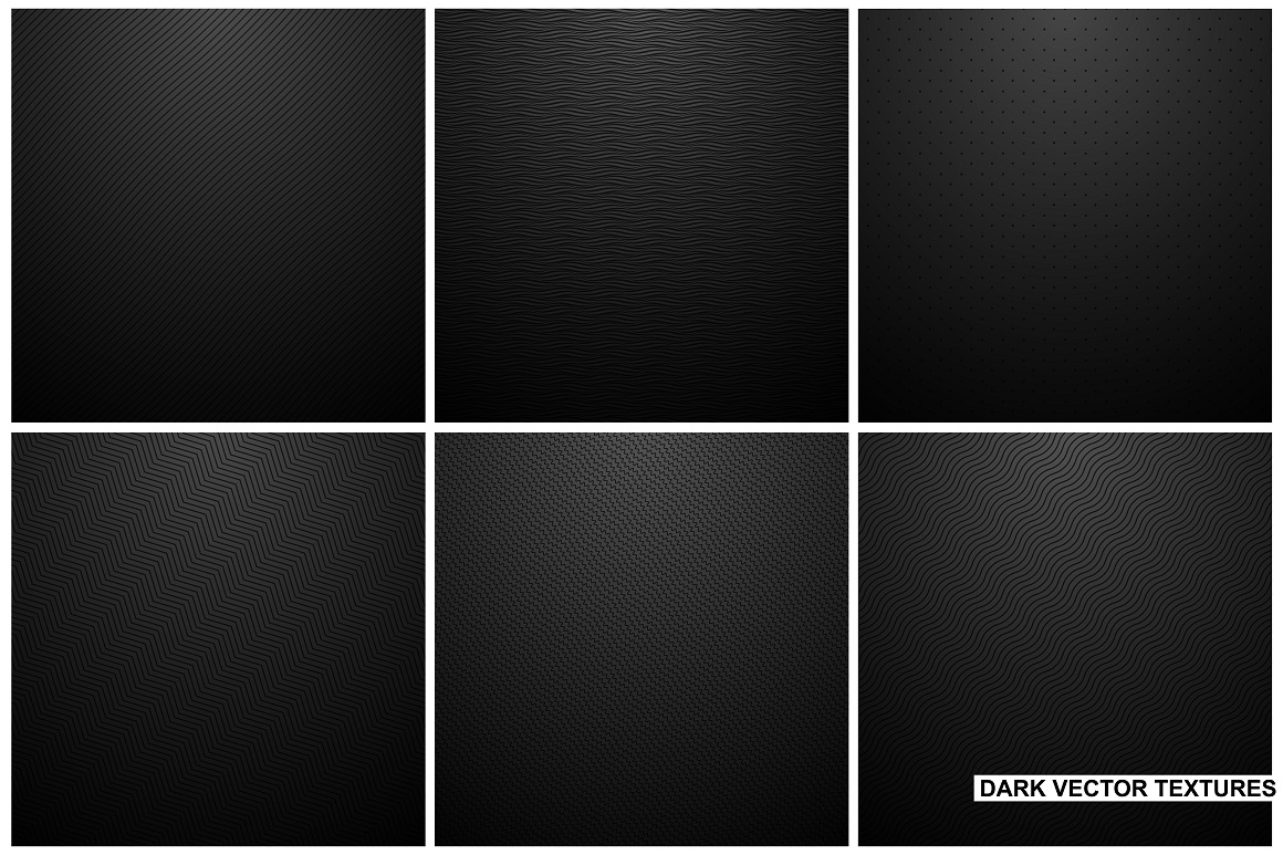 Black backgrounds. Striped textures. example image 1
