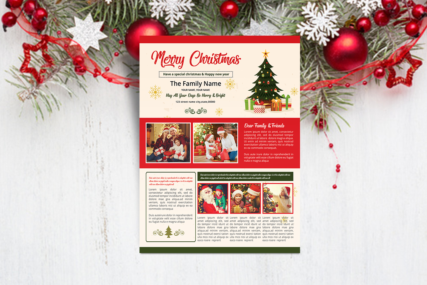 Christmas Newsletter Template example image 4