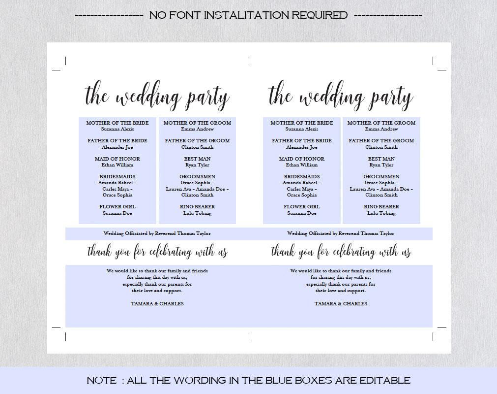 Wedding program fan example image 8