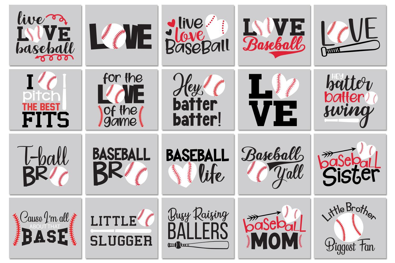 Baseball Quotes Bundle Svg example image 2
