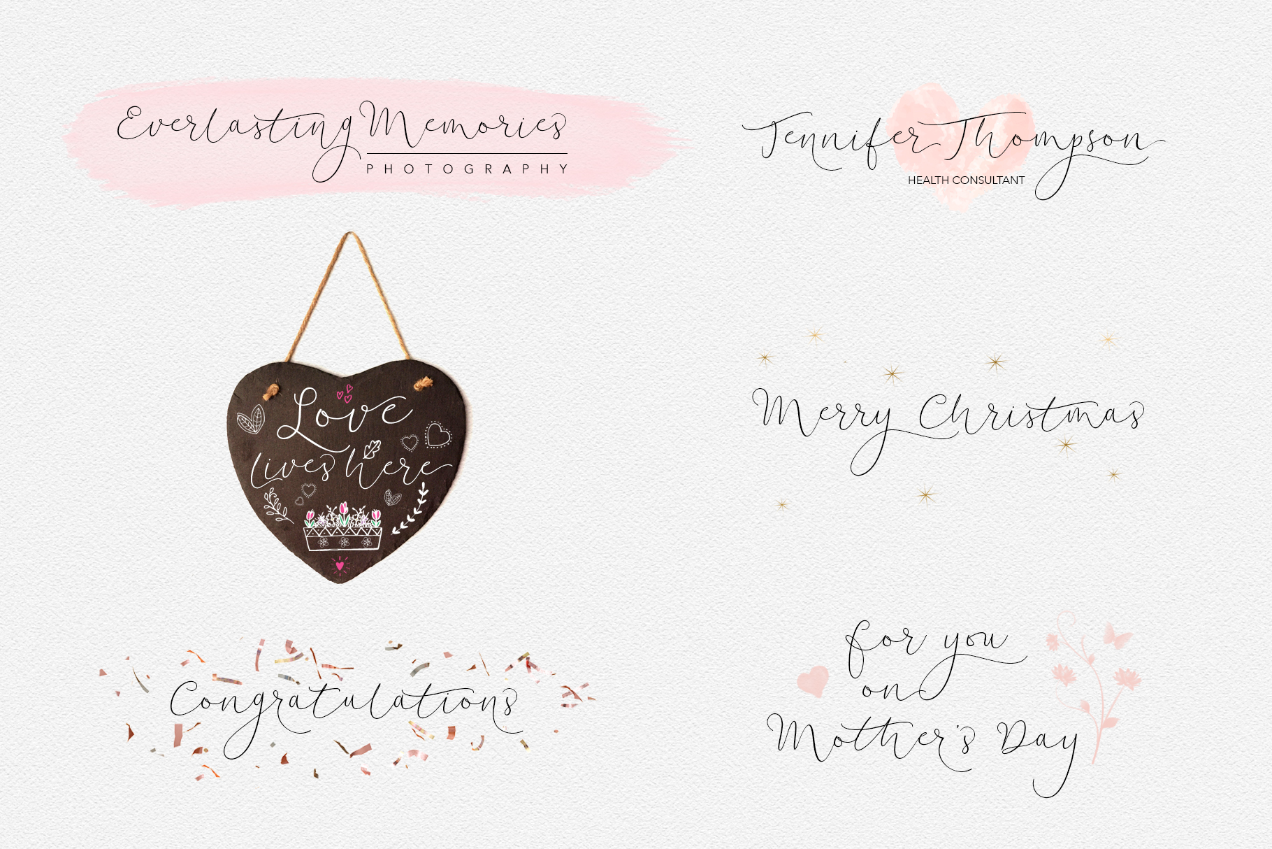 Soft Whisperings Calligraphic example image 5