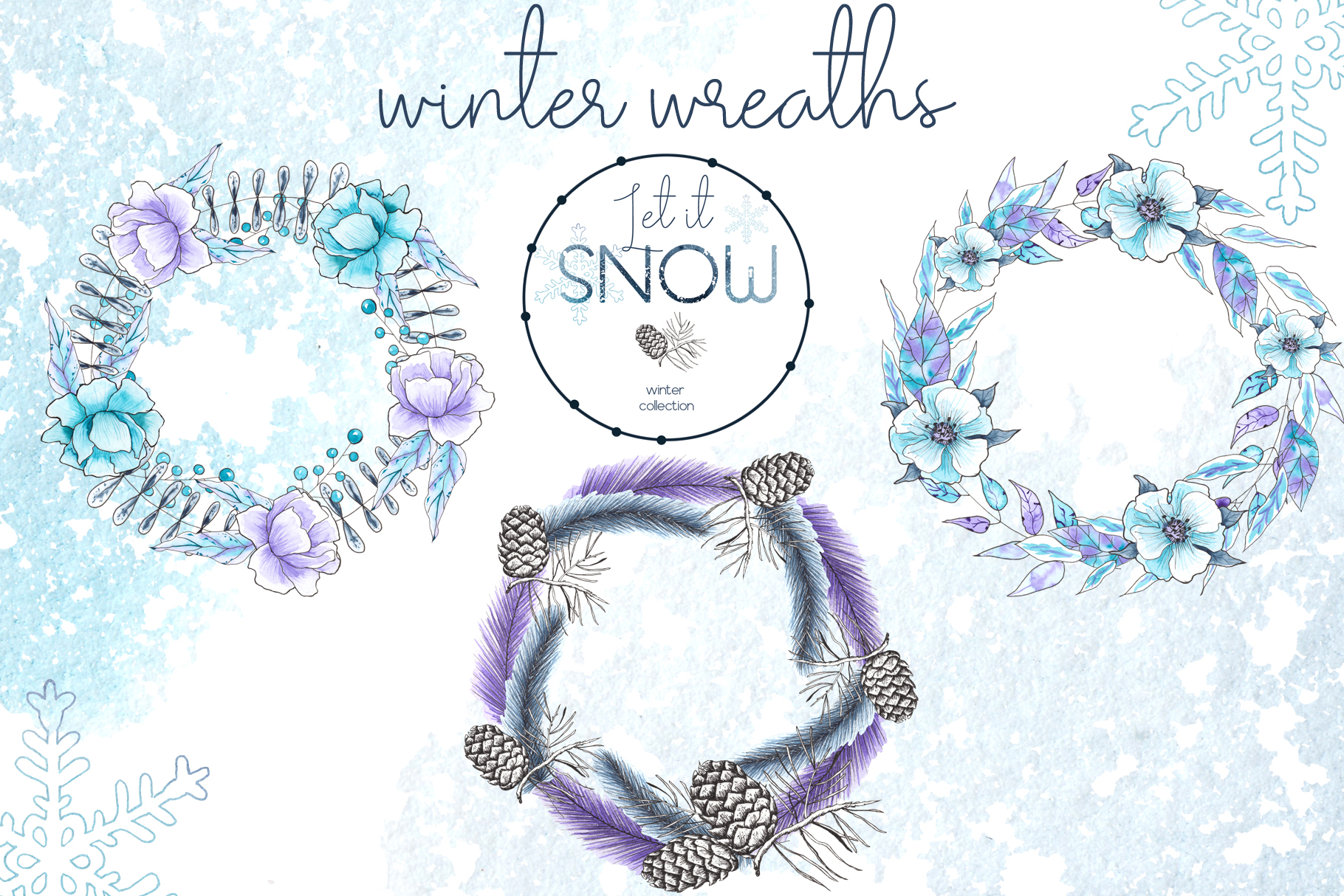 Let it snow. Winter collection example image 12