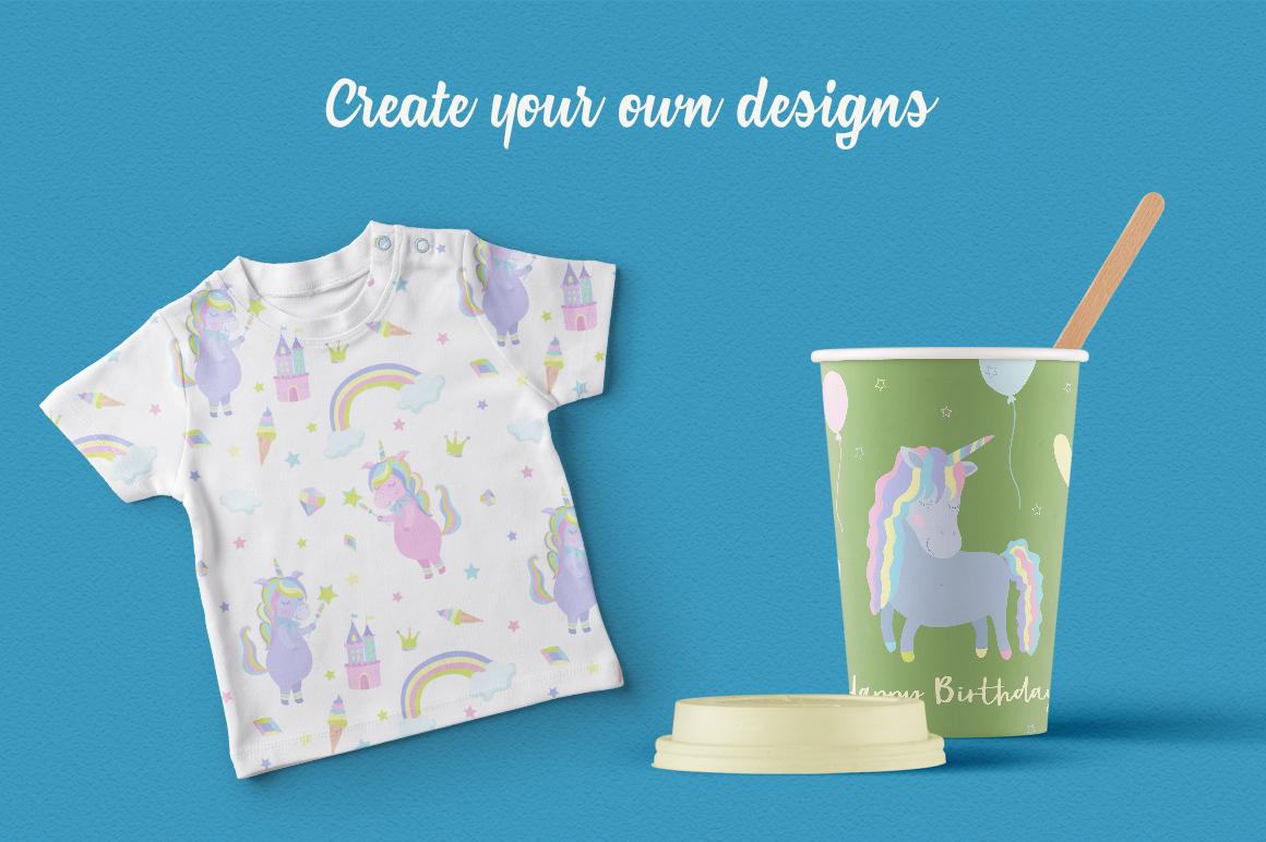 Magic Unicorns Illustration Set example image 8