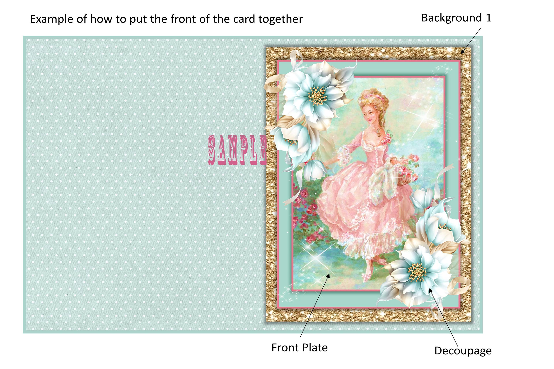 Vintage Greeting Card Ephemera Kit Printable JPEG and PDF example image 2