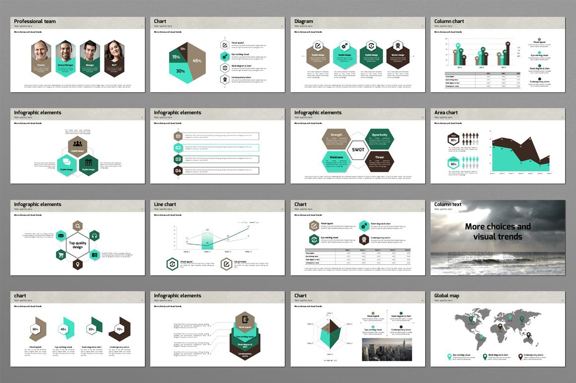 Hexagon Powerpoint Template example image 2