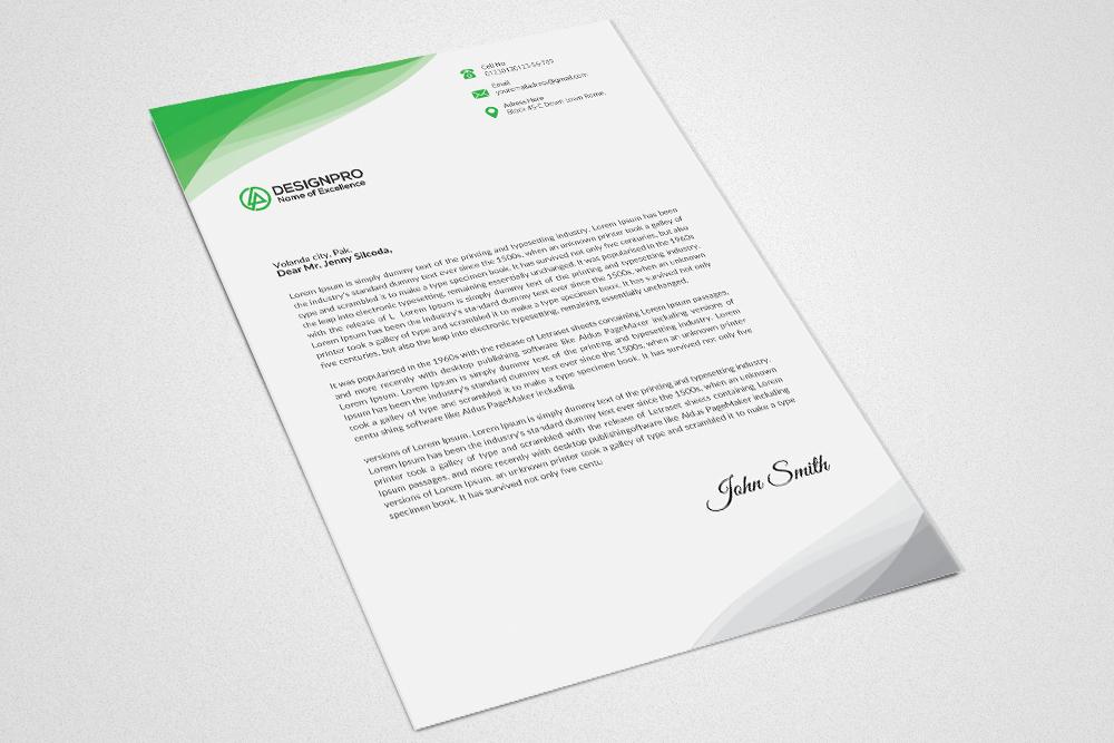 Professional Letterhead Design example image 2