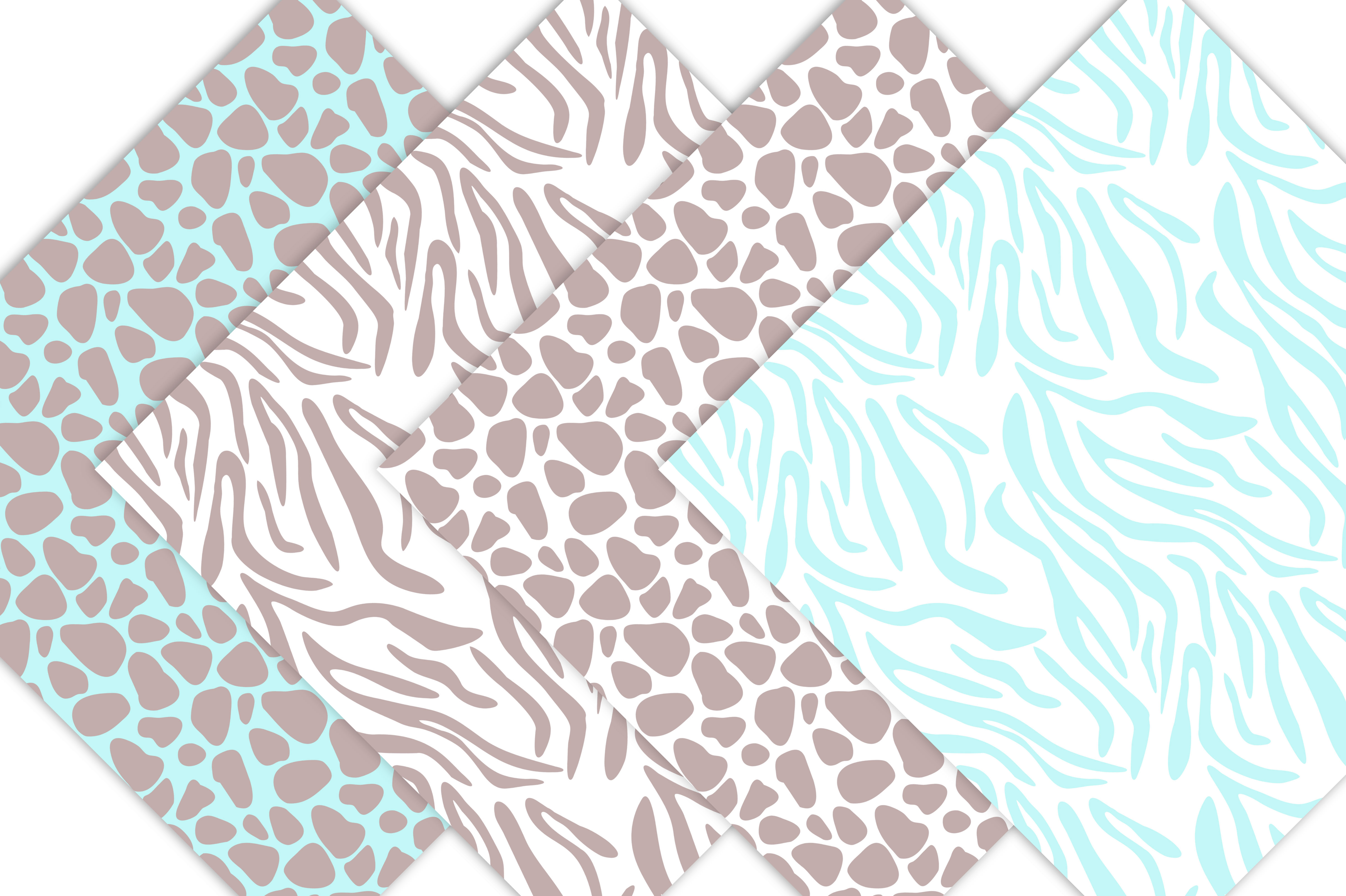 Animal Prints - Baby Blue Safari example image 2