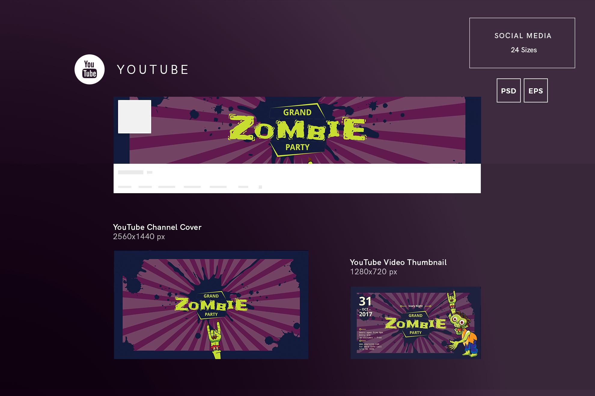 Zombie Party Design Templates Bundle example image 7