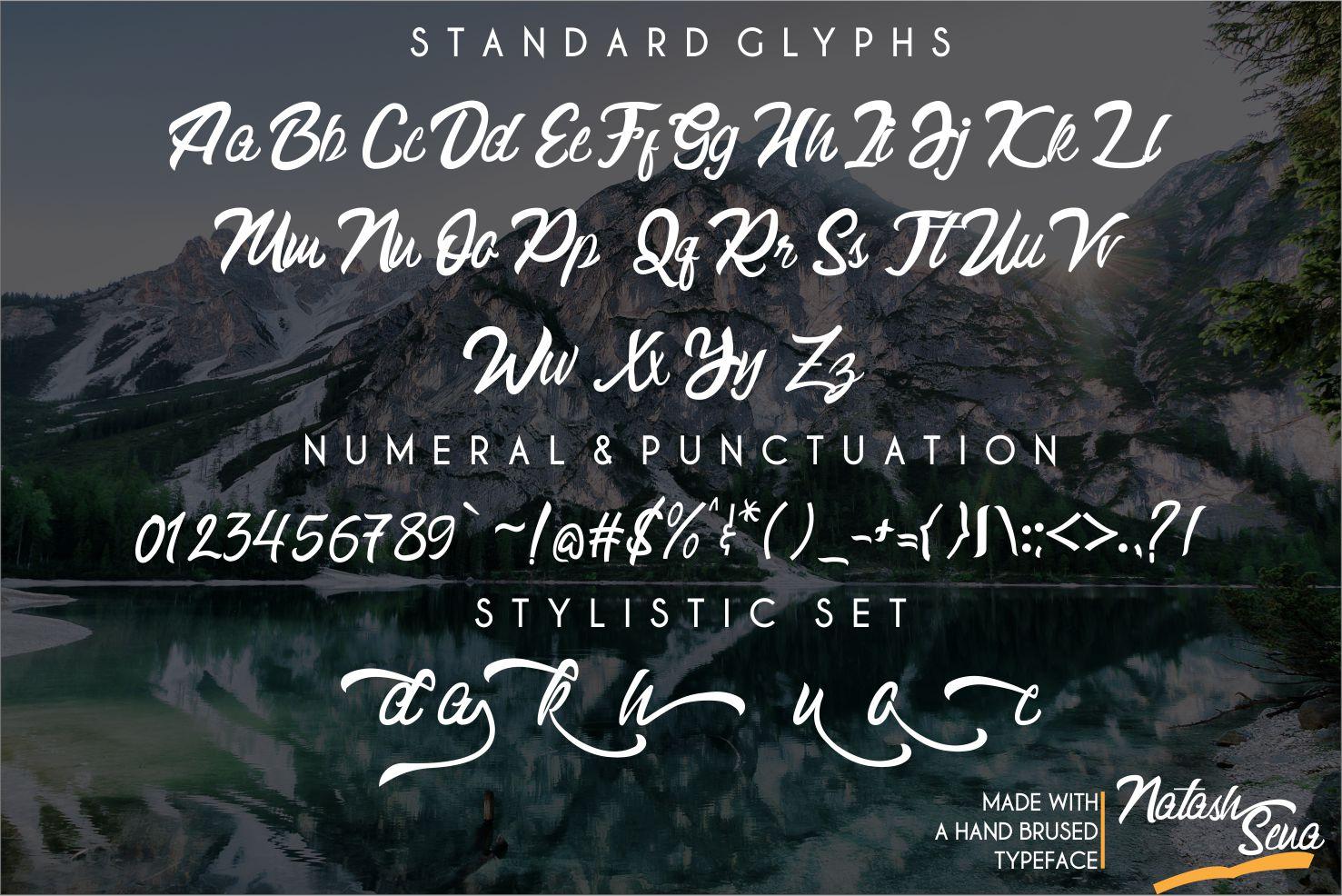 Natash Sena Hendlettering Font example image 7