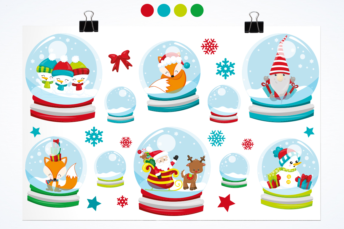 Christmas Globe graphic and illustrations example image 3