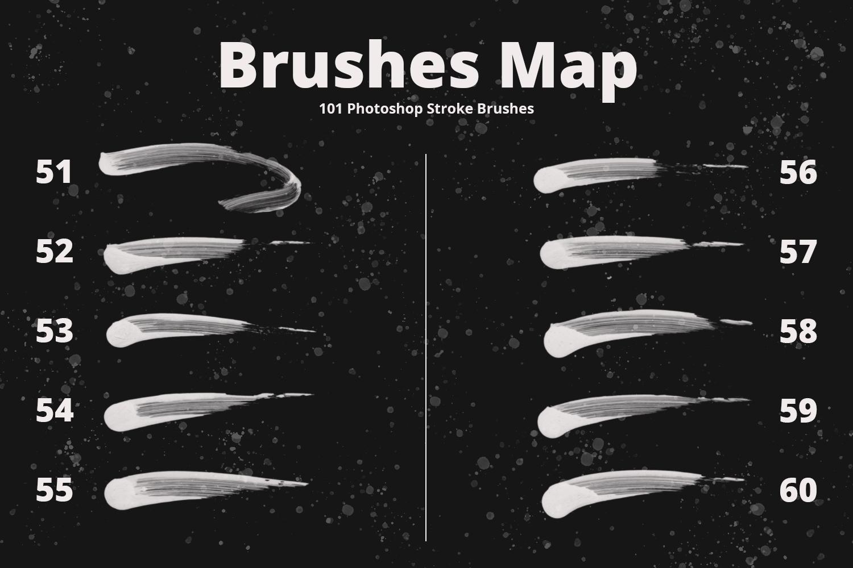 101 Photoshop Paint Stroke Brushes example image 8