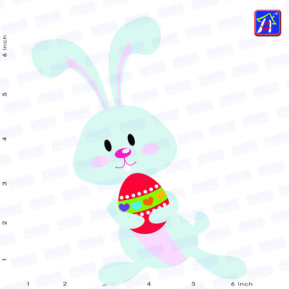 Easter bunny clip art - Personal and commercial use - Easter example image 5